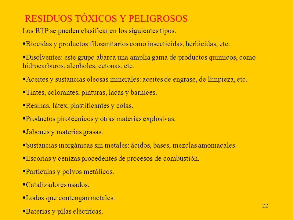 RESIDUOS TÓXICOS Y PELIGROSOS