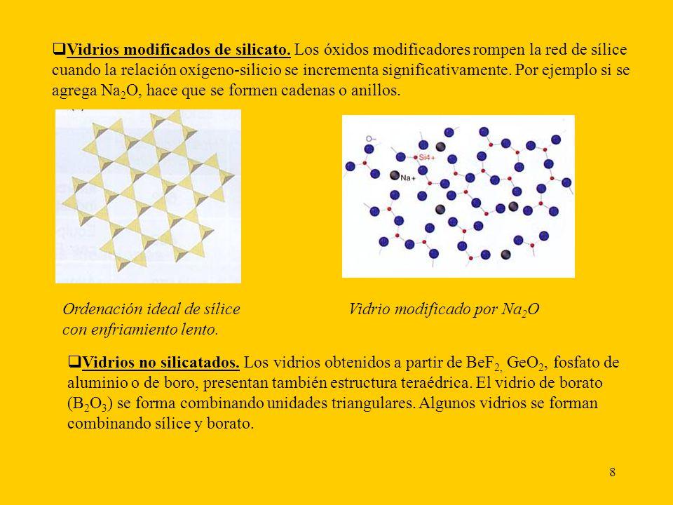 Vidrios modificados de silicato