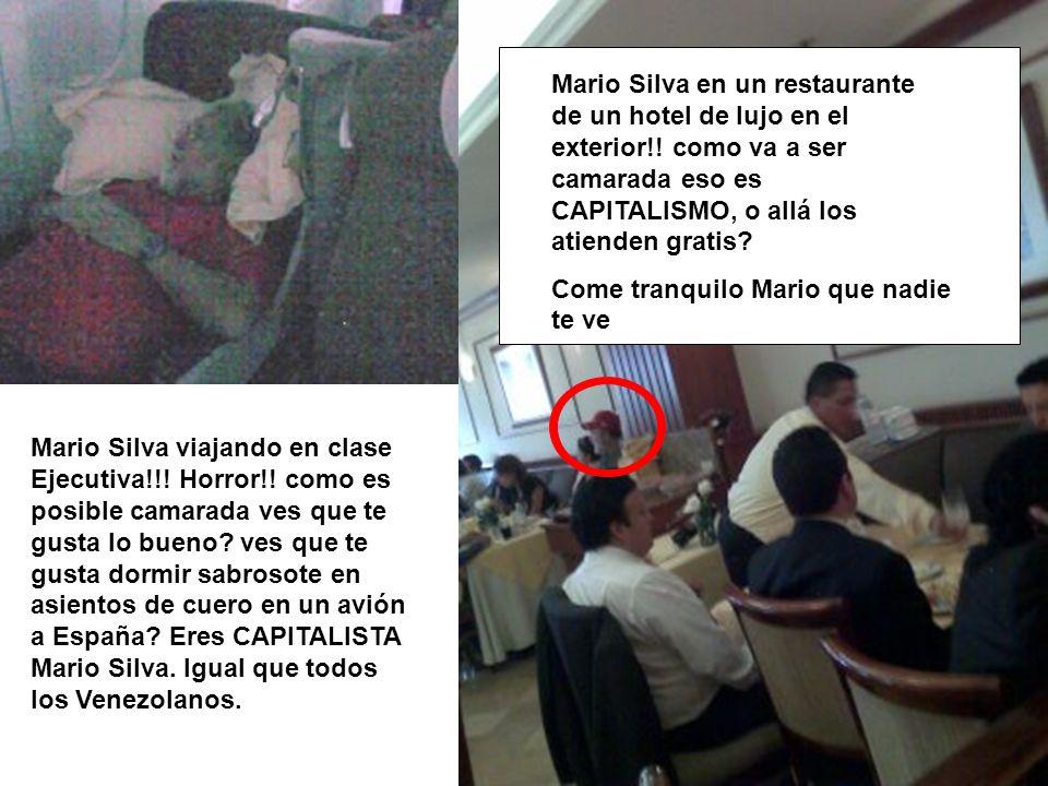 Mario Silva en un restaurante de un hotel de lujo en el exterior
