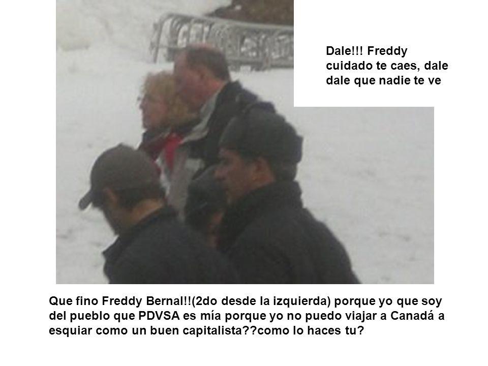 Dale!!! Freddy cuidado te caes, dale dale que nadie te ve