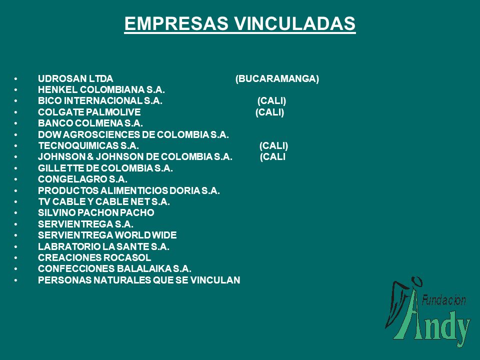 EMPRESAS VINCULADAS UDROSAN LTDA (BUCARAMANGA) HENKEL COLOMBIANA S.A.