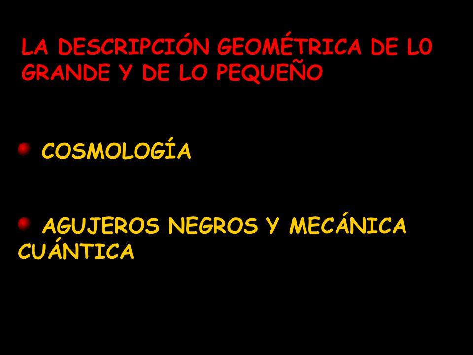 LA DESCRIPCIÓN GEOMÉTRICA DE L0 GRANDE Y DE LO PEQUEÑO
