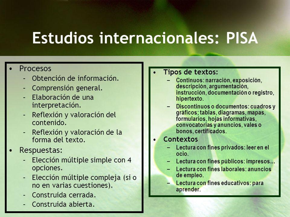 Estudios internacionales: PISA