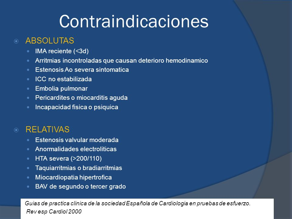Contraindicaciones ABSOLUTAS RELATIVAS IMA reciente (<3d)