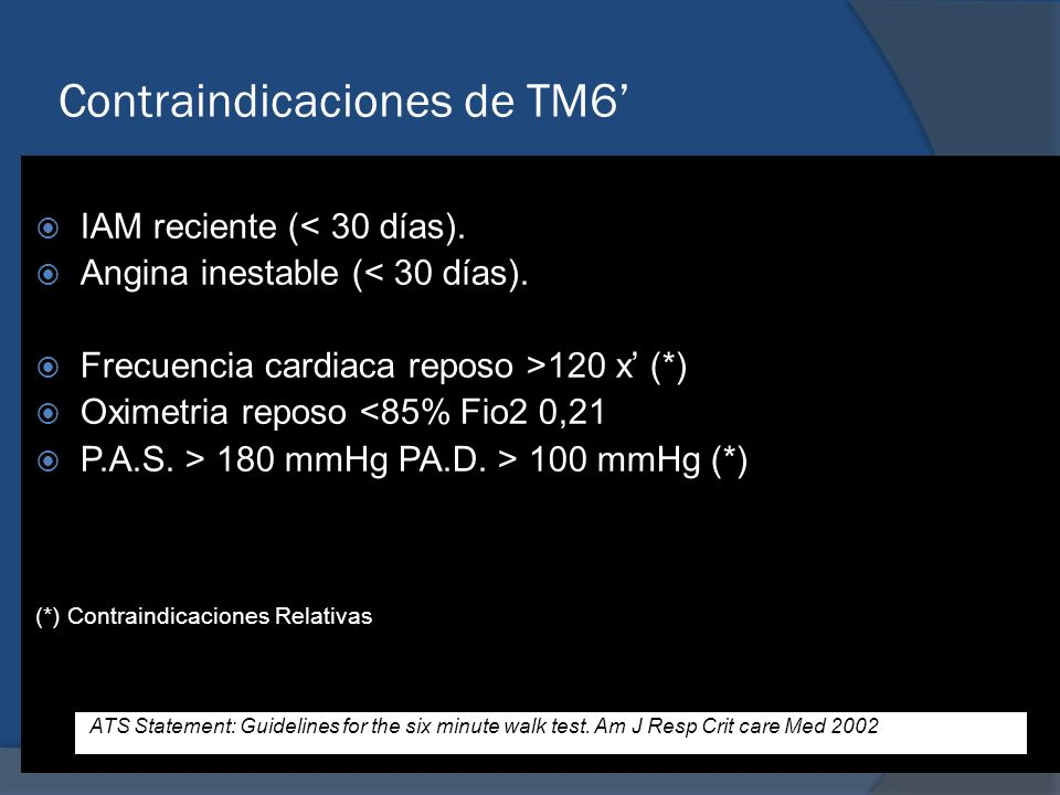 Contraindicaciones de TM6'