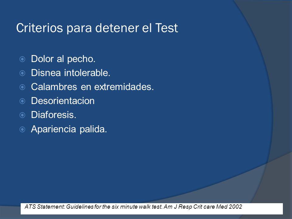 Criterios para detener el Test