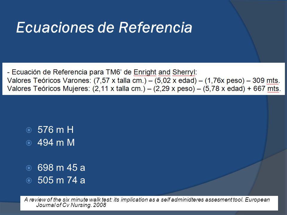 Ecuaciones de Referencia