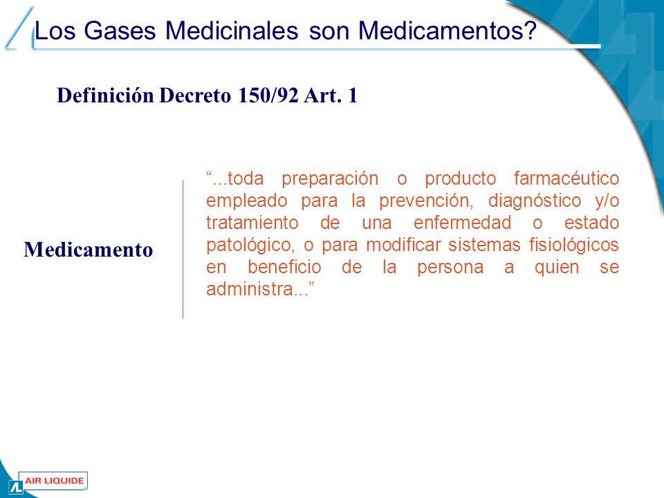 Los Gases Medicinales son Medicamentos