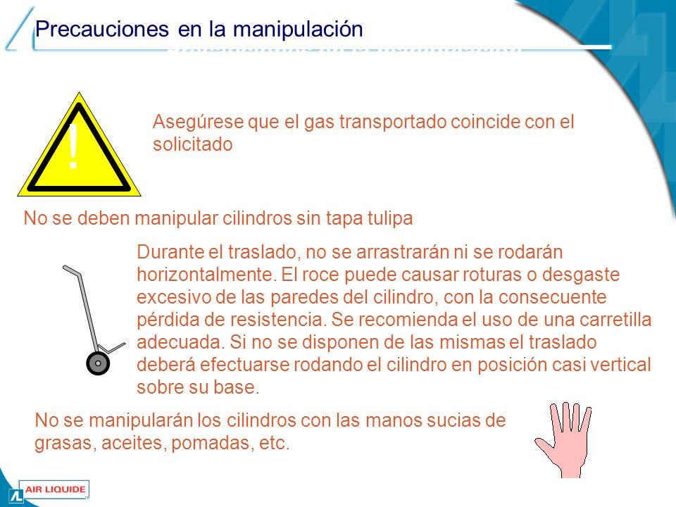 Precauciones en la manipulación