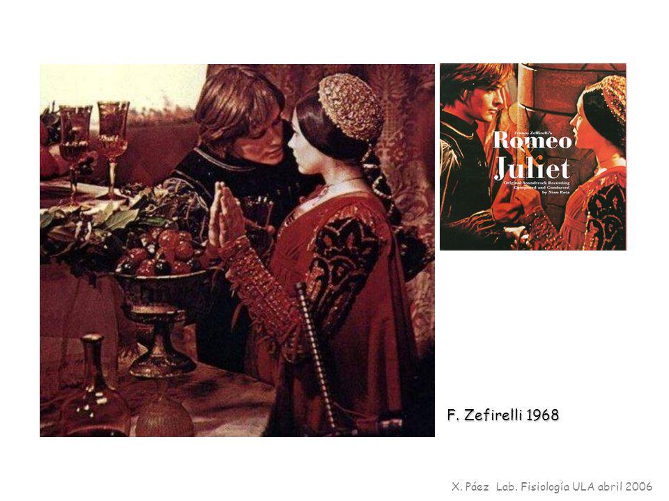 F. Zefirelli 1968 X. Páez Lab. Fisiología ULA abril 2006