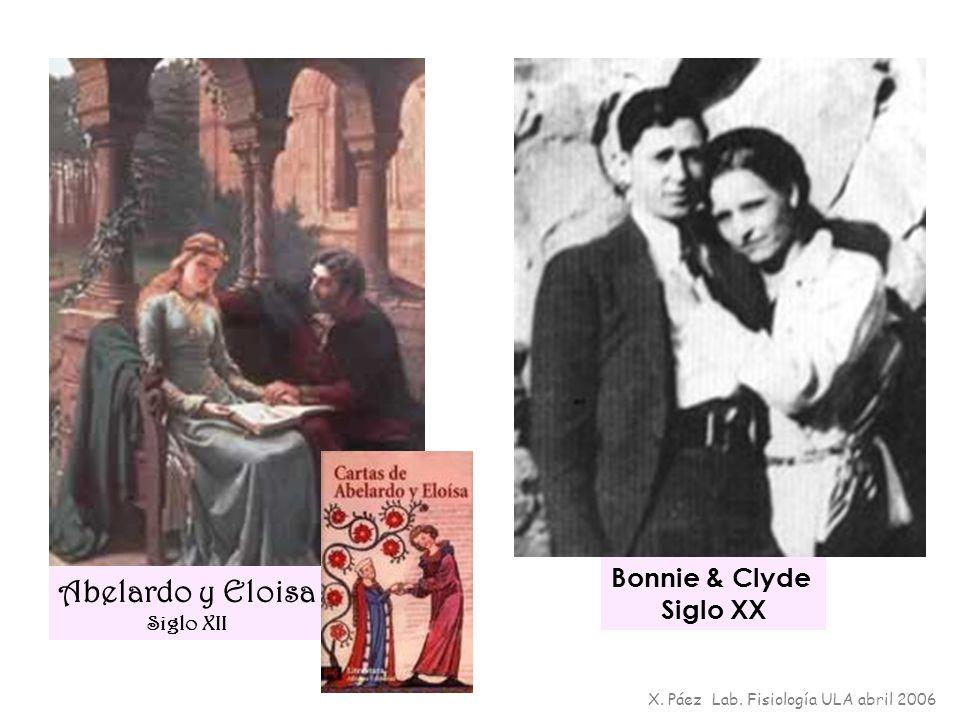 Abelardo y Eloisa Bonnie & Clyde Siglo XX Siglo XII