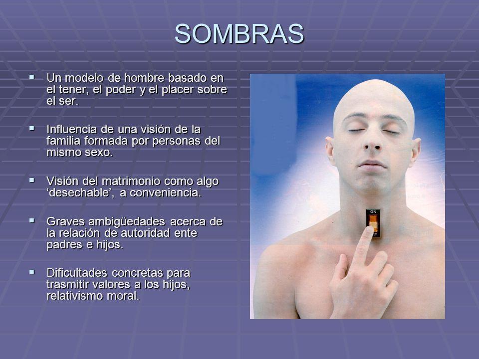 SOMBRAS Un modelo de hombre basado en el tener, el poder y el placer sobre el ser.