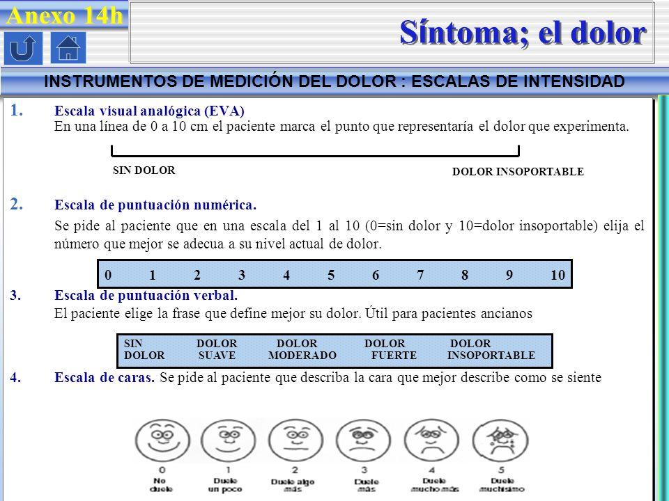 INSTRUMENTOS DE MEDICIÓN DEL DOLOR : ESCALAS DE INTENSIDAD