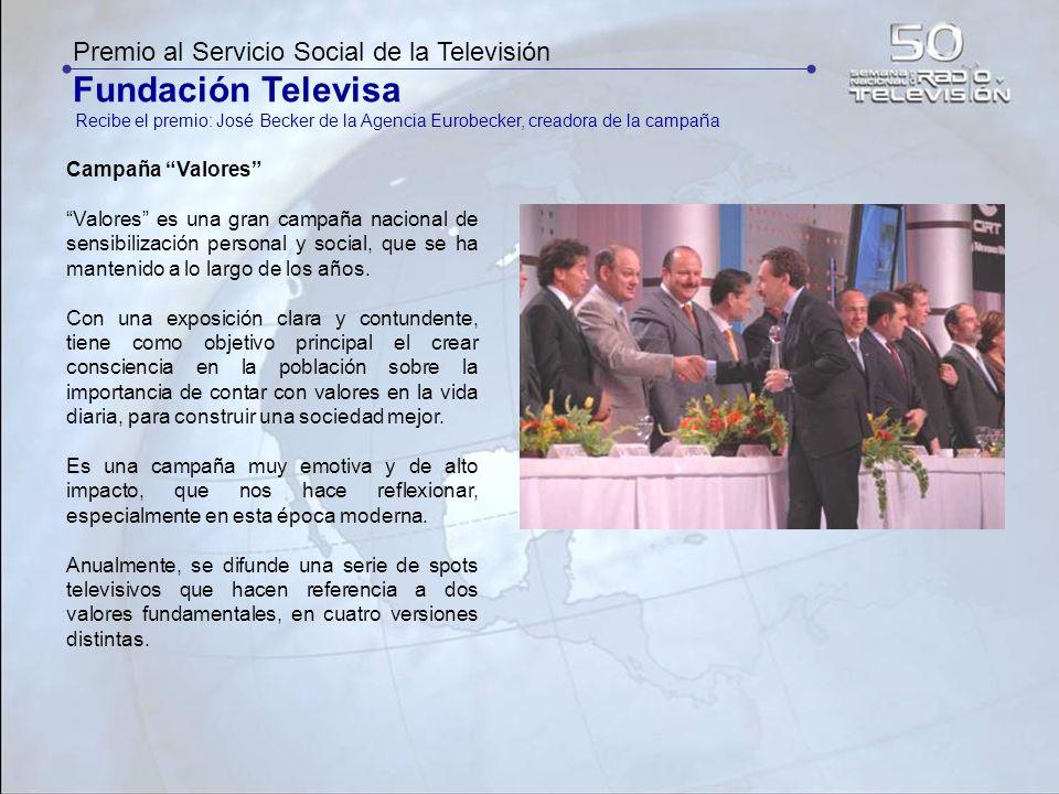 Fundación Televisa Premio al Servicio Social de la Televisión