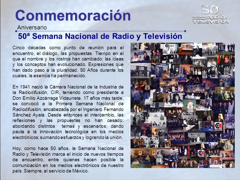 Conmemoración 50ª Semana Nacional de Radio y Televisión Aniversario