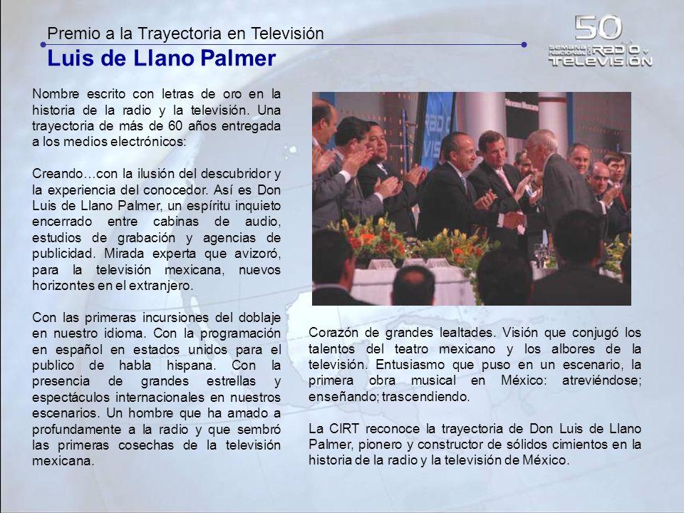 Luis de Llano Palmer Premio a la Trayectoria en Televisión