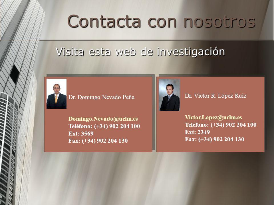 Contacta con nosotros Visita esta web de investigación