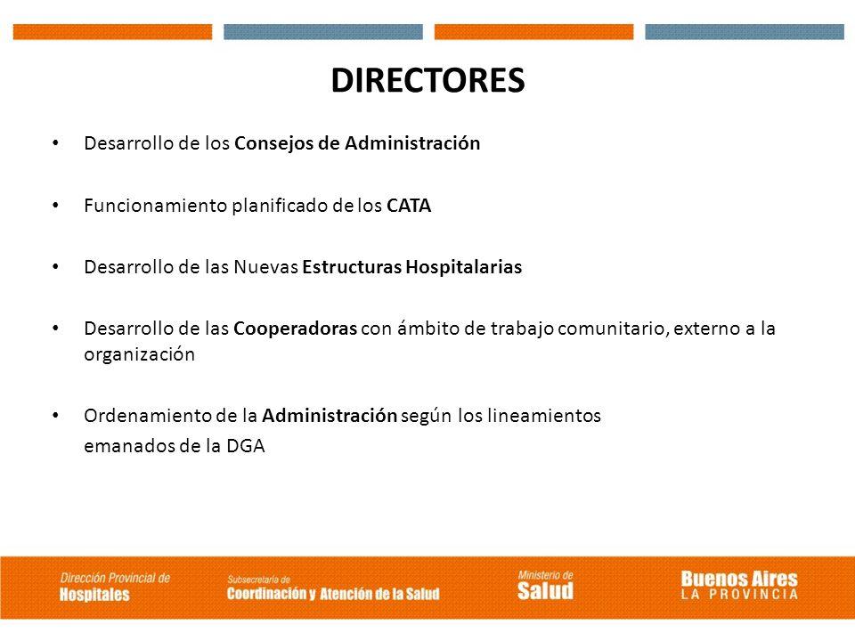 DIRECTORES Desarrollo de los Consejos de Administración