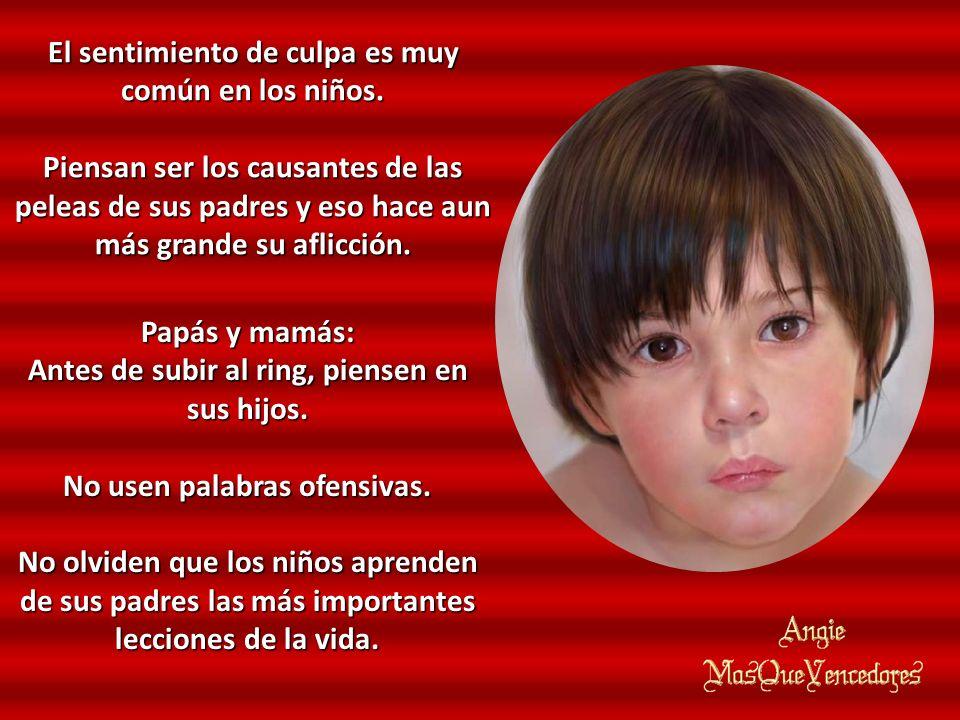 El sentimiento de culpa es muy común en los niños.