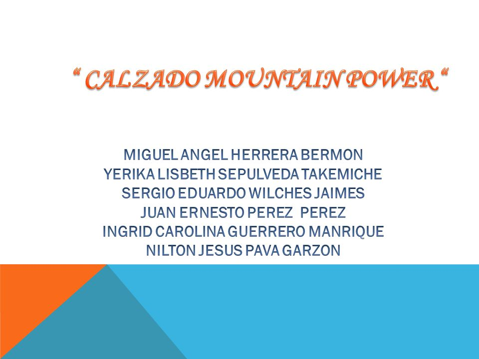 CALZADO MOUNTAIN POWER