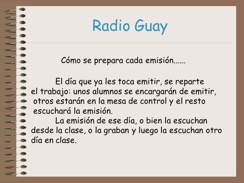 Radio Guay Cómo se prepara cada emisión......
