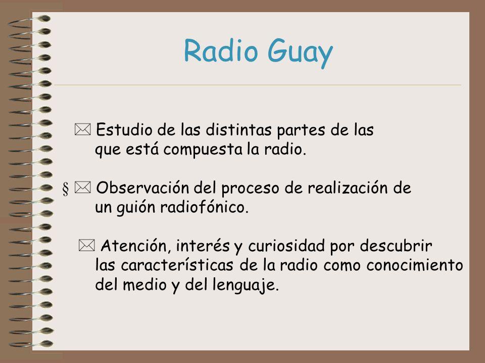 Radio Guay * Estudio de las distintas partes de las