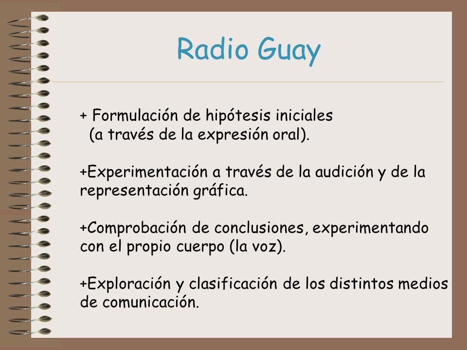 Radio Guay + Formulación de hipótesis iniciales