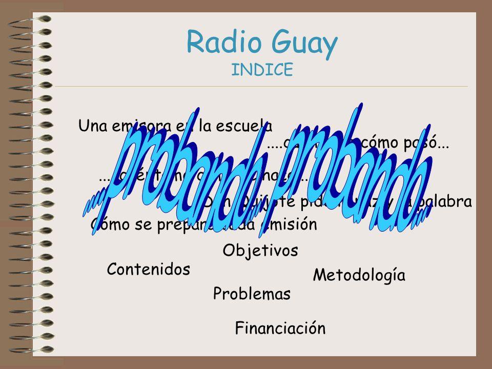 Radio Guay INDICE ....probando... probando...