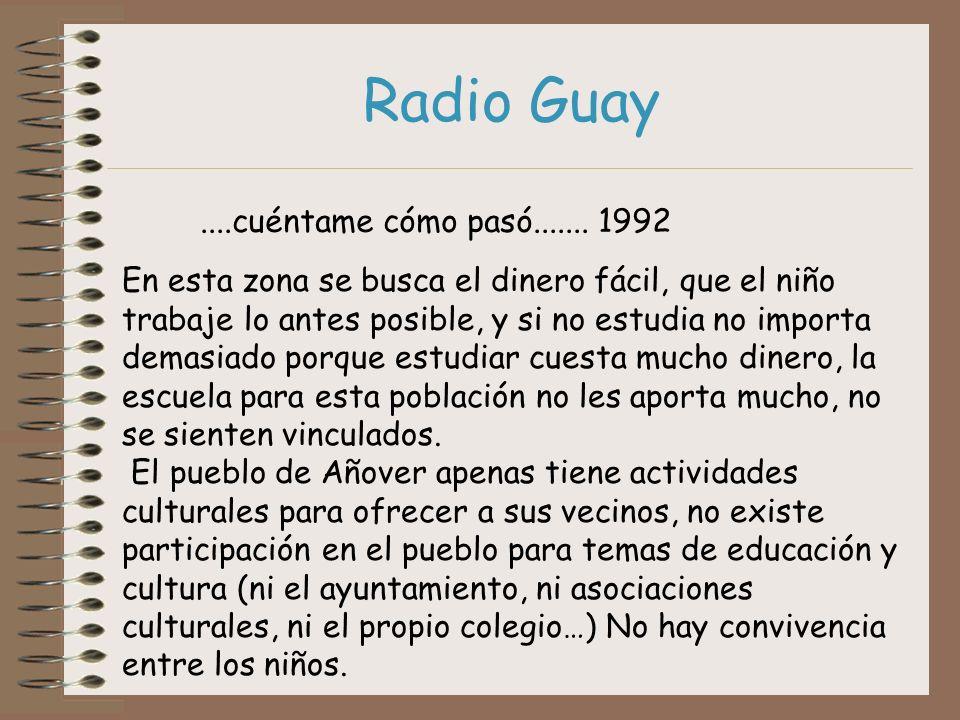 Radio Guay ....cuéntame cómo pasó....... 1992