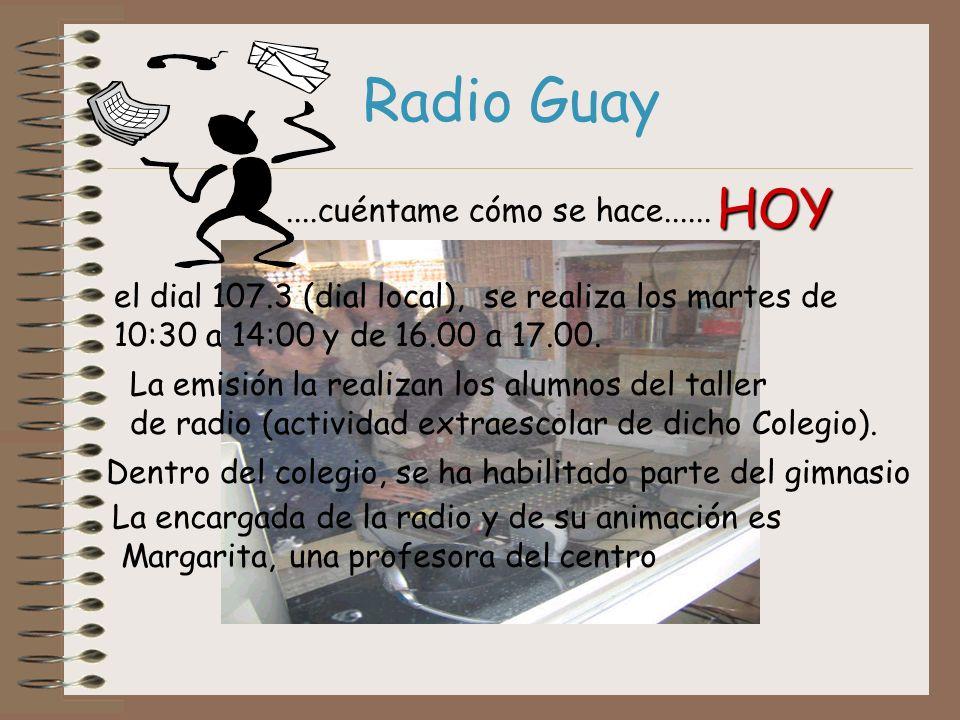 Radio Guay HOY ....cuéntame cómo se hace......