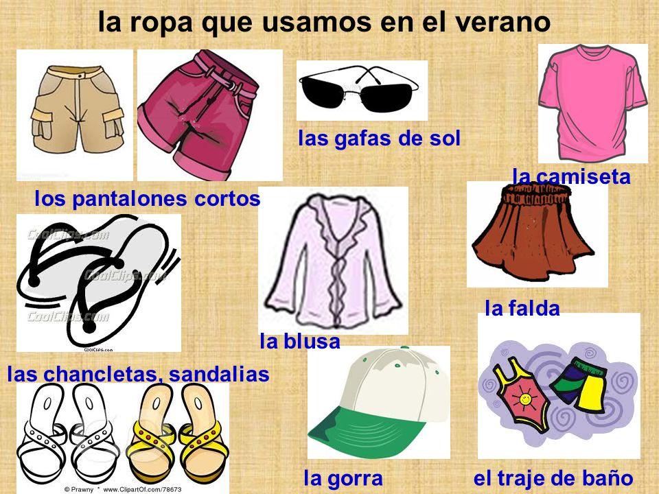 la ropa que usamos en el verano