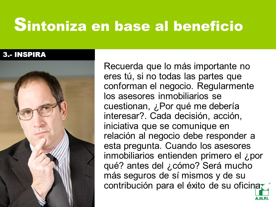 Sintoniza en base al beneficio