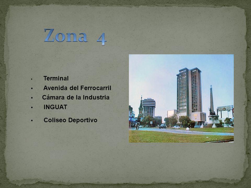 Zona 4 Avenida del Ferrocarril Cámara de la Industria INGUAT