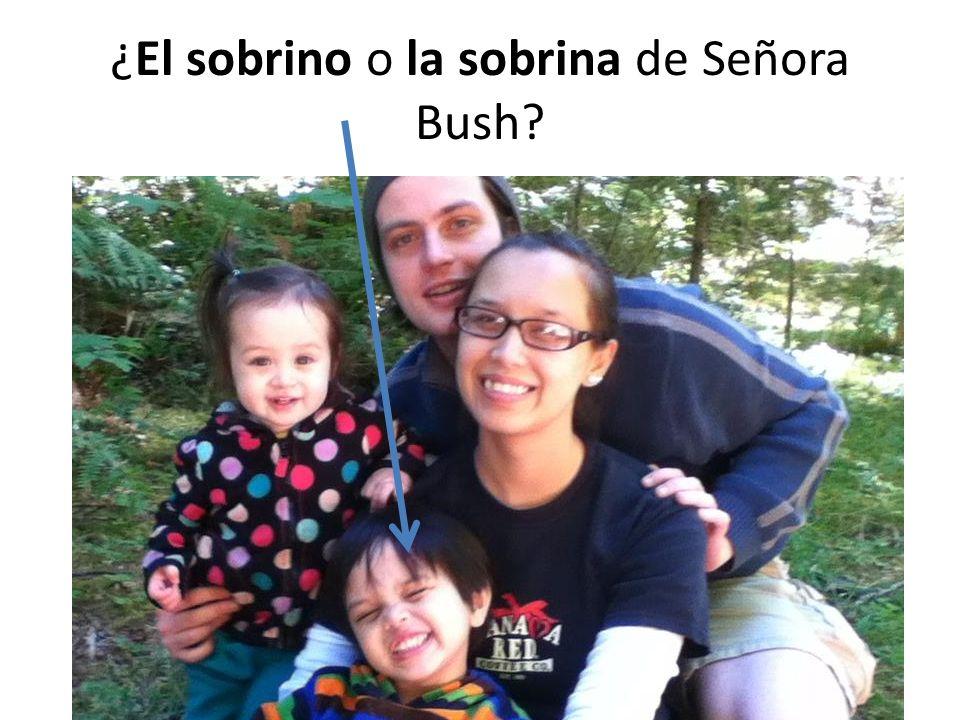 ¿El sobrino o la sobrina de Señora Bush