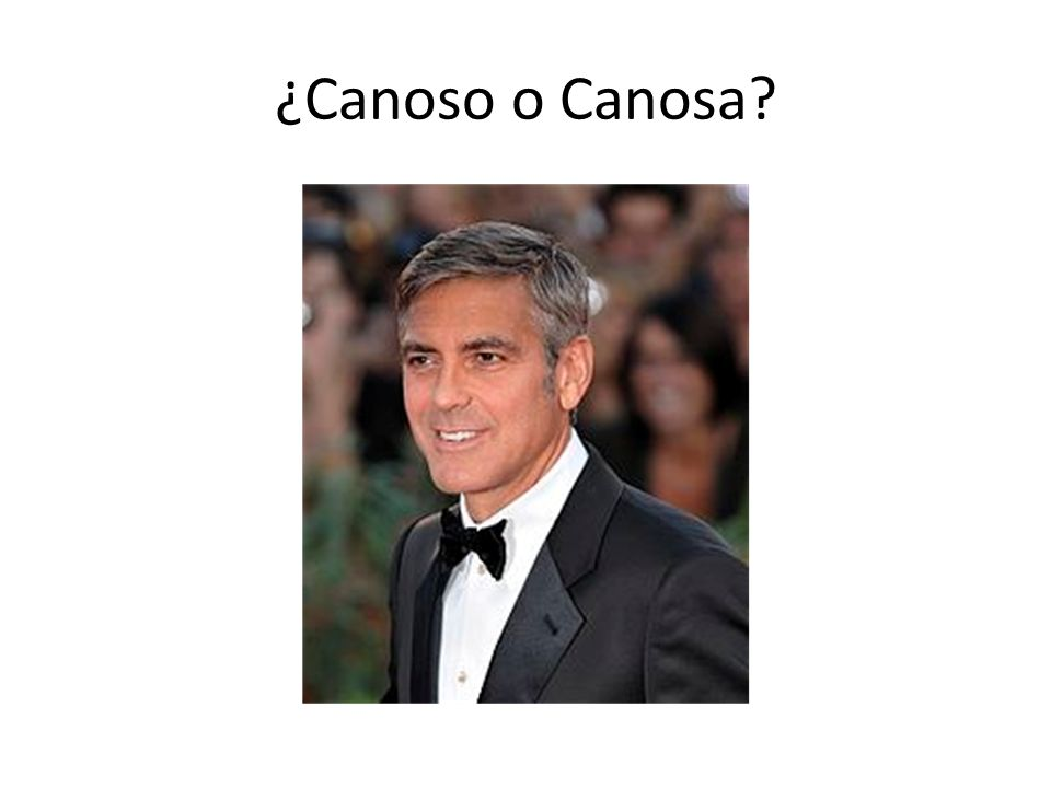 ¿Canoso o Canosa