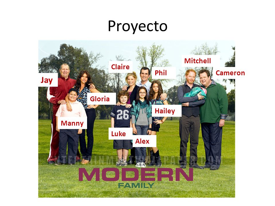 Proyecto Jay Mitchell Claire Phil Cameron Gloria Hailey Manny Luke