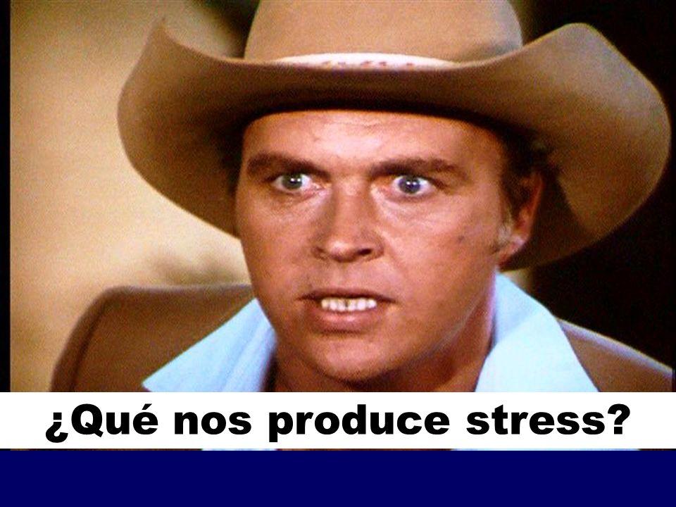 ¿Qué nos produce stress
