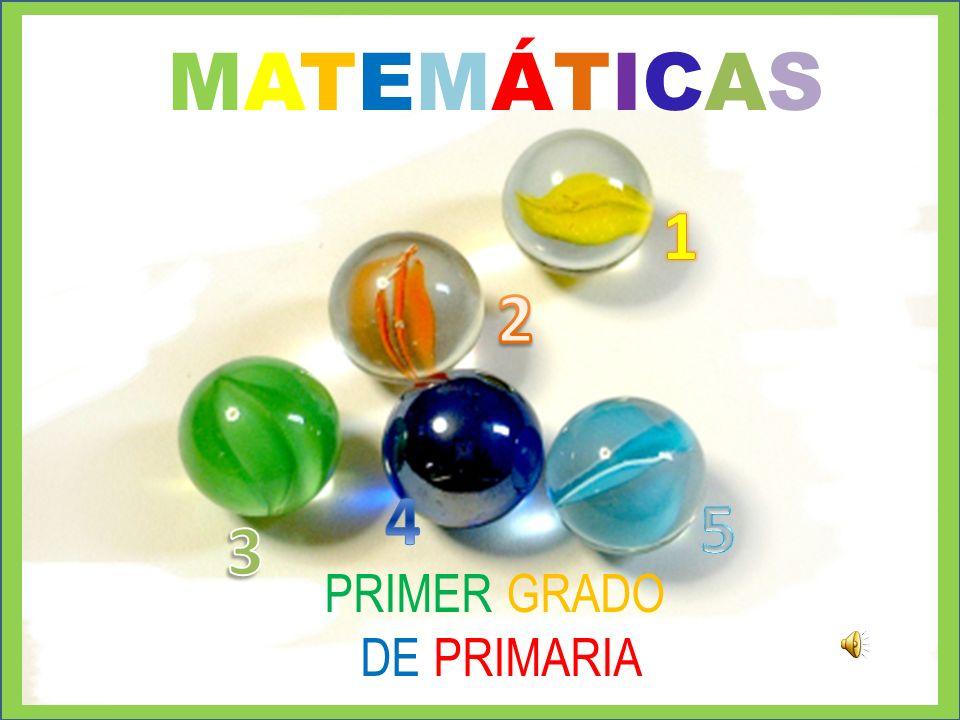 MATEMÁTICAS 1 2 4 5 3 PRIMER GRADO DE PRIMARIA