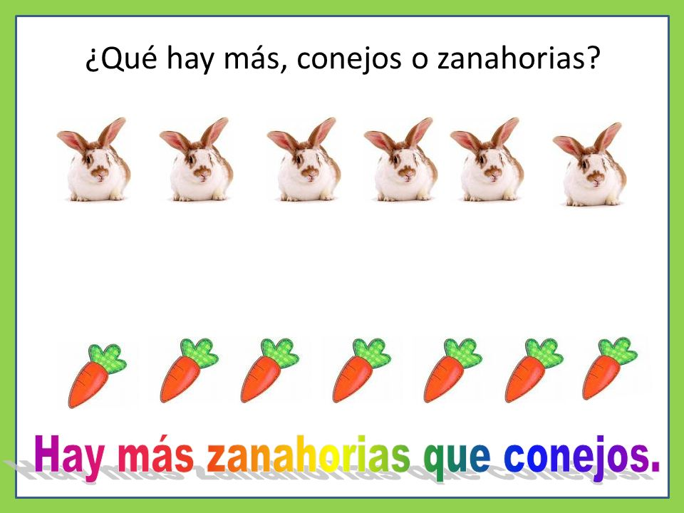 ¿Qué hay más, conejos o zanahorias