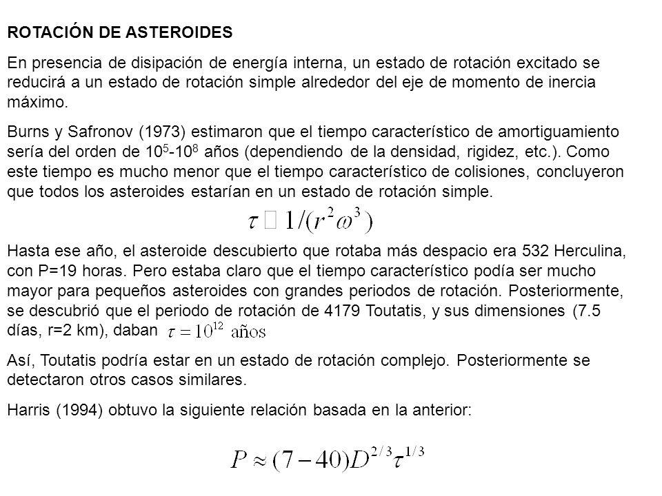 ROTACIÓN DE ASTEROIDES