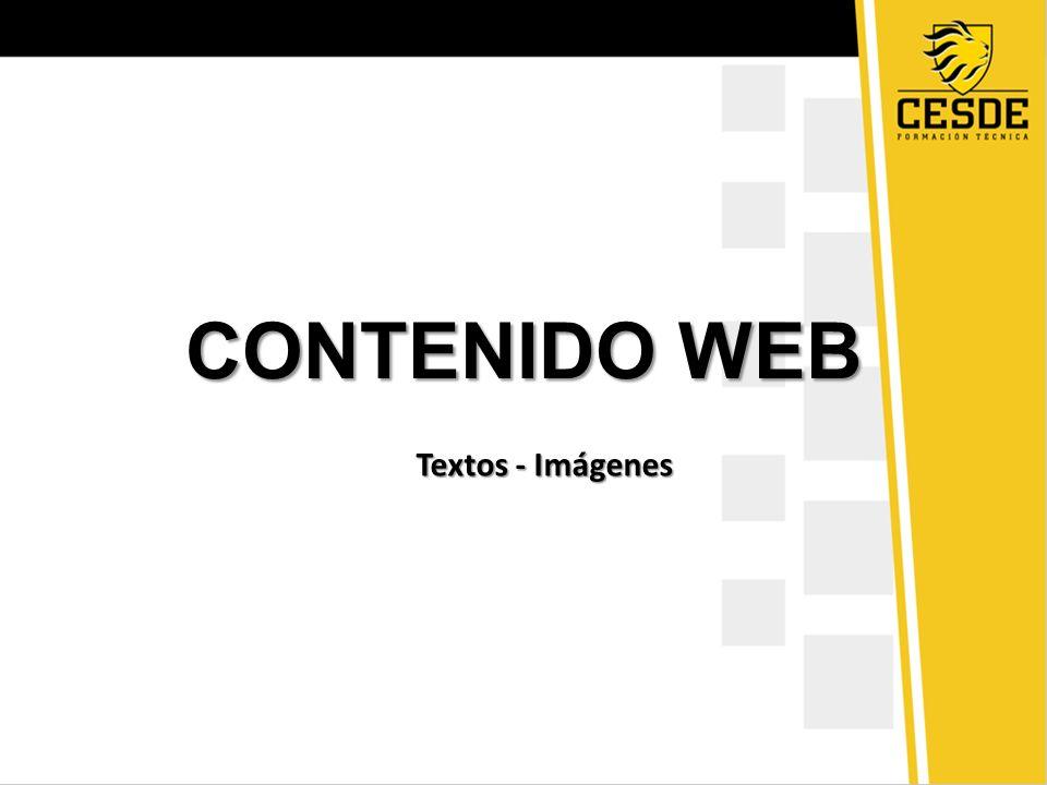 CONTENIDO WEB Textos - Imágenes