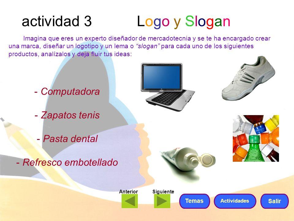 actividad 3 Logo y Slogan