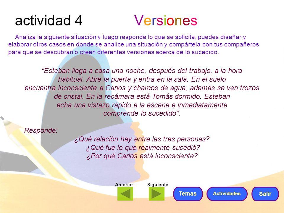 actividad 4 Versiones