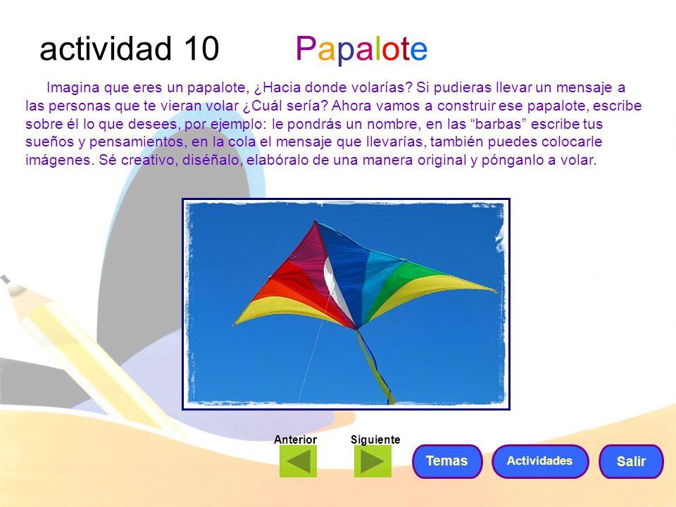 actividad 10 Papalote
