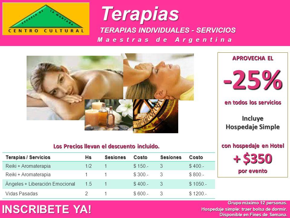 Terapias TERAPIAS INDIVIDUALES - SERVICIOS