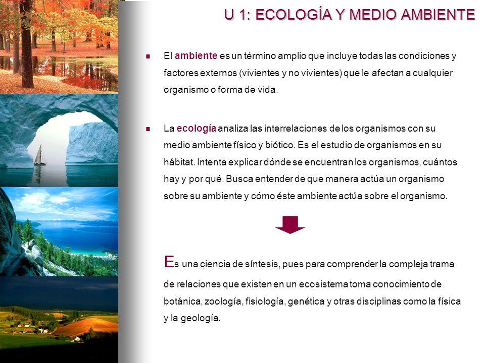 U 1: ECOLOGÍA Y MEDIO AMBIENTE