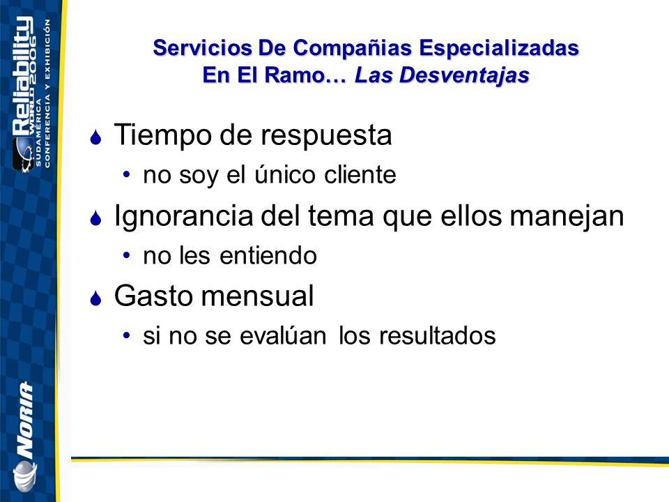 Servicios De Compañias Especializadas En El Ramo… Las Desventajas