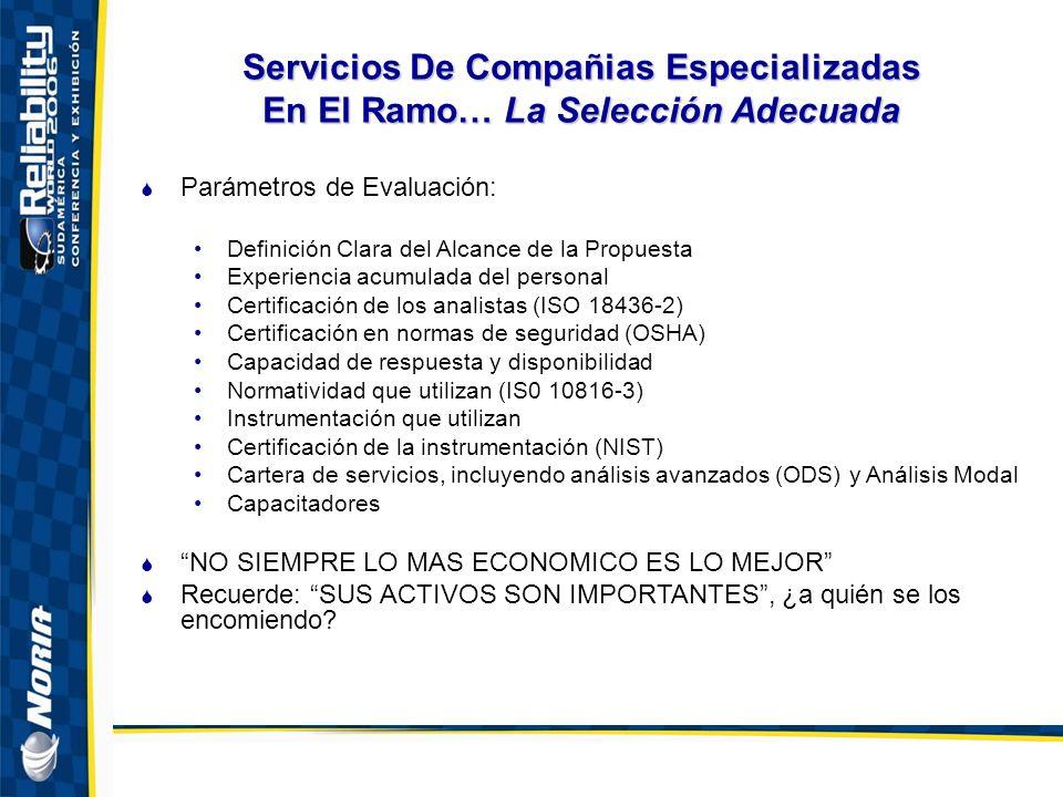 Servicios De Compañias Especializadas En El Ramo… La Selección Adecuada