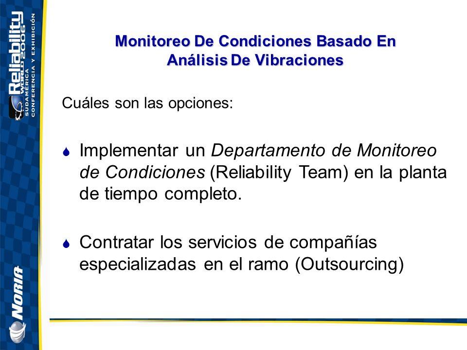Monitoreo De Condiciones Basado En Análisis De Vibraciones