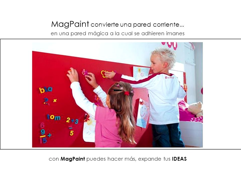 MagPaint convierte una pared corriente...